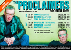 proclaimers scottish tour
